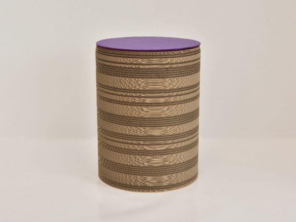 violet_cardboard_stool