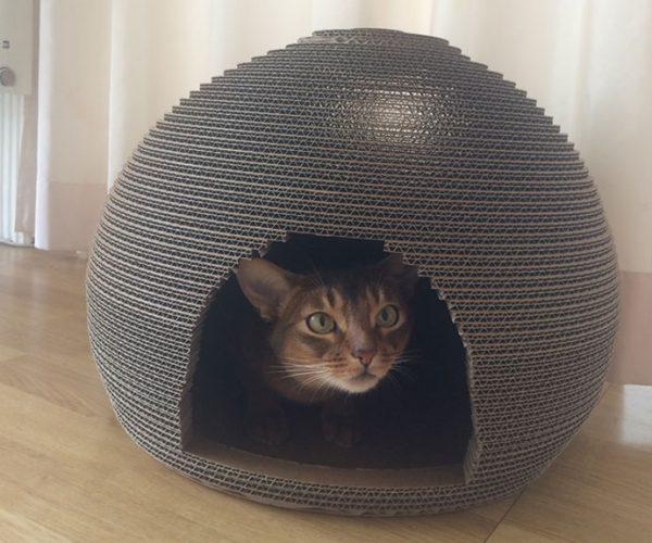 Corrugated Cardboard Cat House, Scratcher