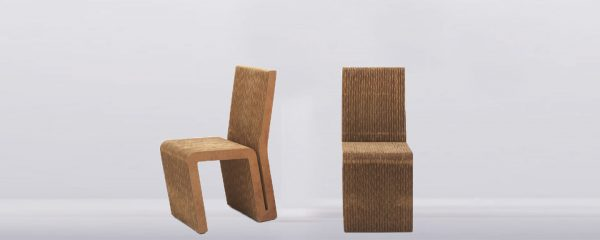 Side Chair, Frank Gehry Cardboard Funitre