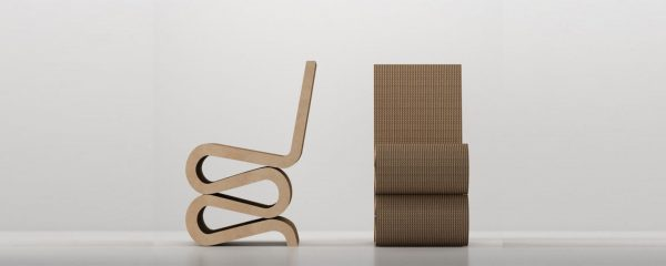 Wiggle Side Chair, Corrugated Cardboard Chair