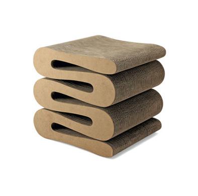 Wiggle stool , Corrugated Cardboard Stool