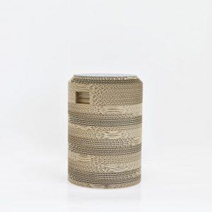 Cardboard_Round_Pouf_Storage_Stool_H35_Grey